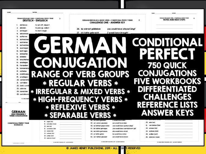 GERMAN ALEVEL CONDITIONAL PERFECT TENSE CONJUGATION PRACTICE