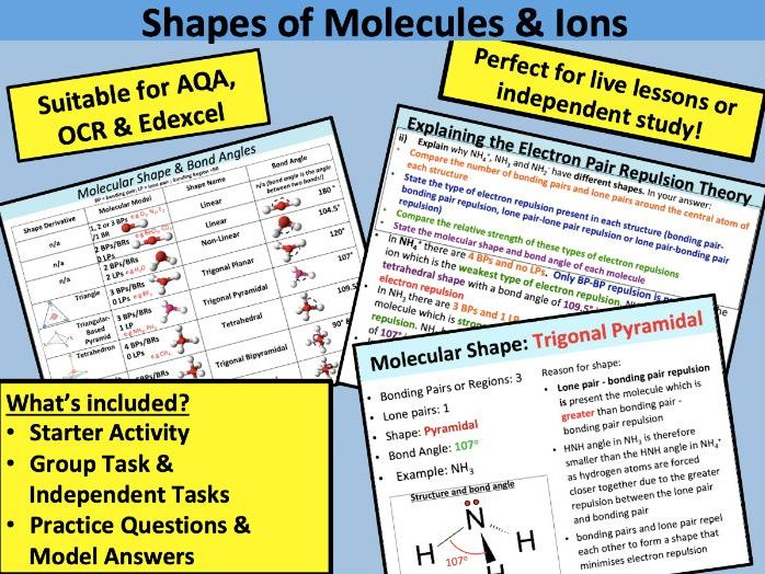 Shapes of Molecules and Ions