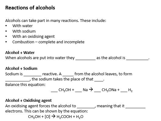 GCSE Chemistry - C7 triple science worksheets
