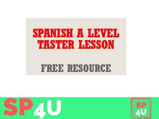 A level Spanish taster lesson