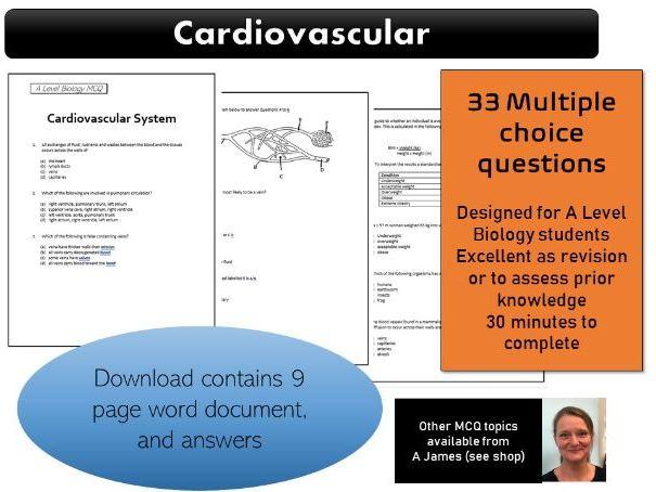 A Level Biology Cardiovascular System MCQ