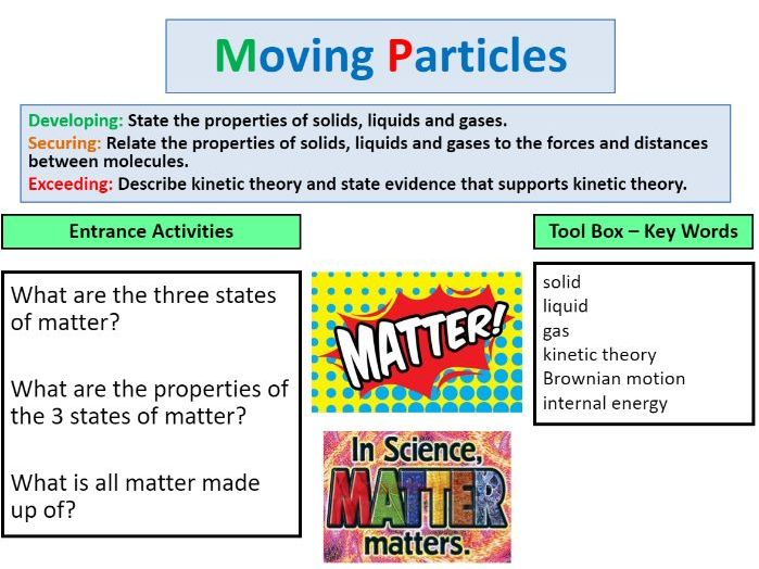 States of matter & moving particles - including Brownian motion