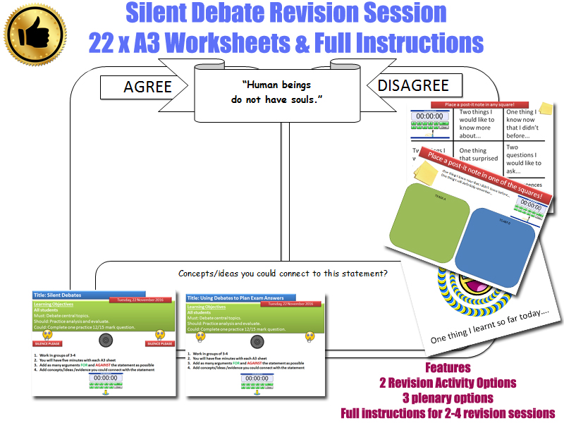 GCSE- Islam - REVISION SESSION (activity/task) [Silent Debate, Exam Answer Planning, RE, RS]