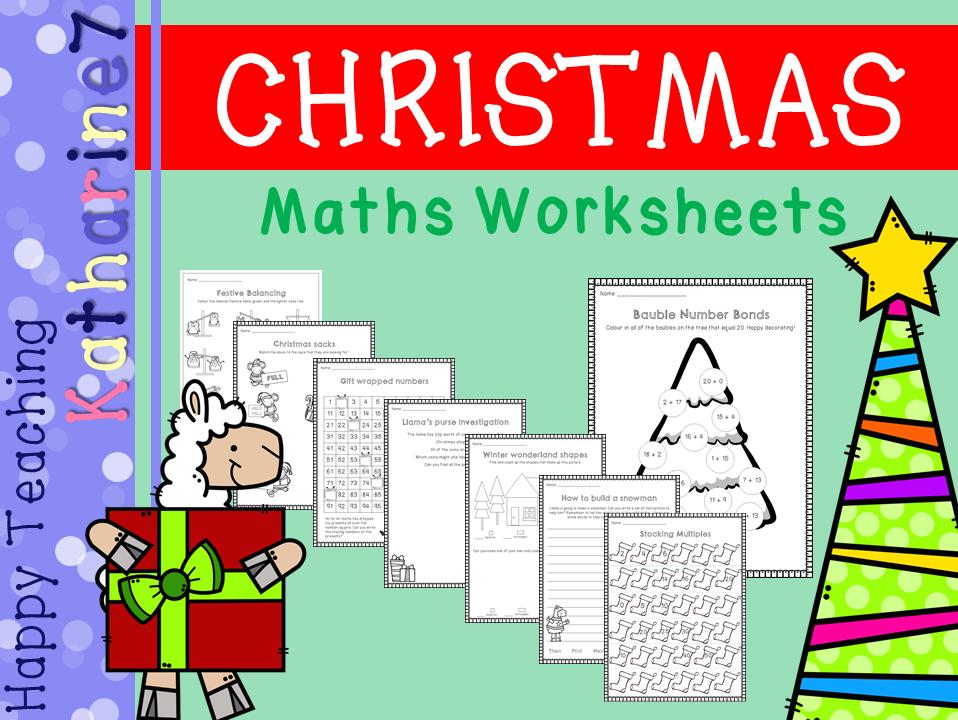 Christmas Maths Worksheets - KS1