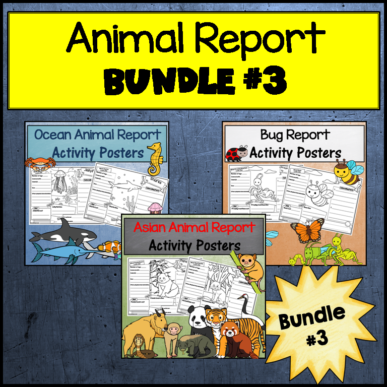 Animal Research Bundle #3: Bugs, Asian and Ocean Animals