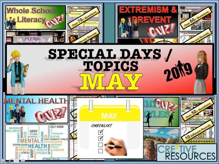 Tutor time activities - May