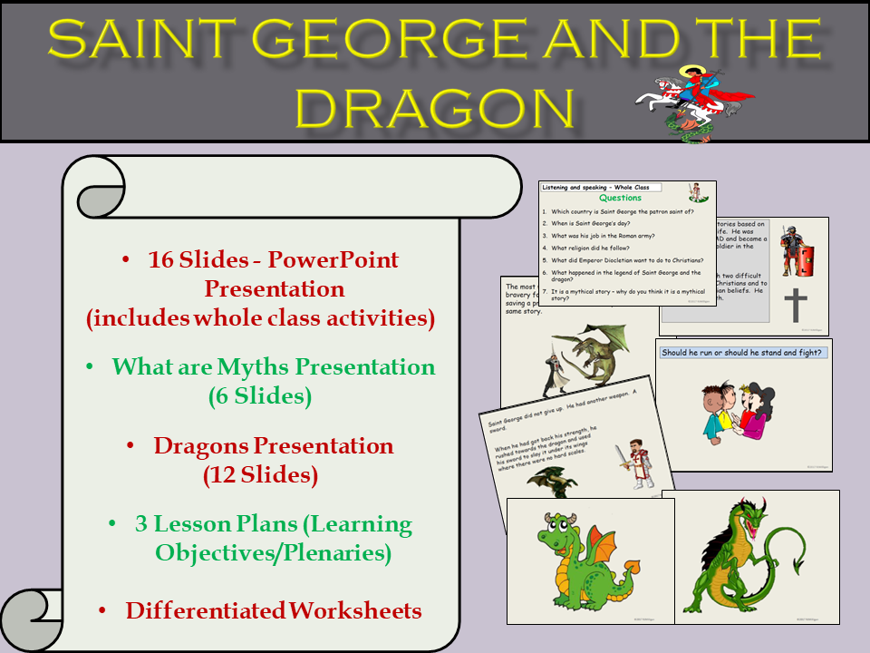 St Georges Day Saint George And The Dragon Presentation Myths