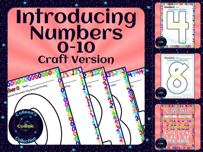 Introducing Numbers 0-10 – Craft Version