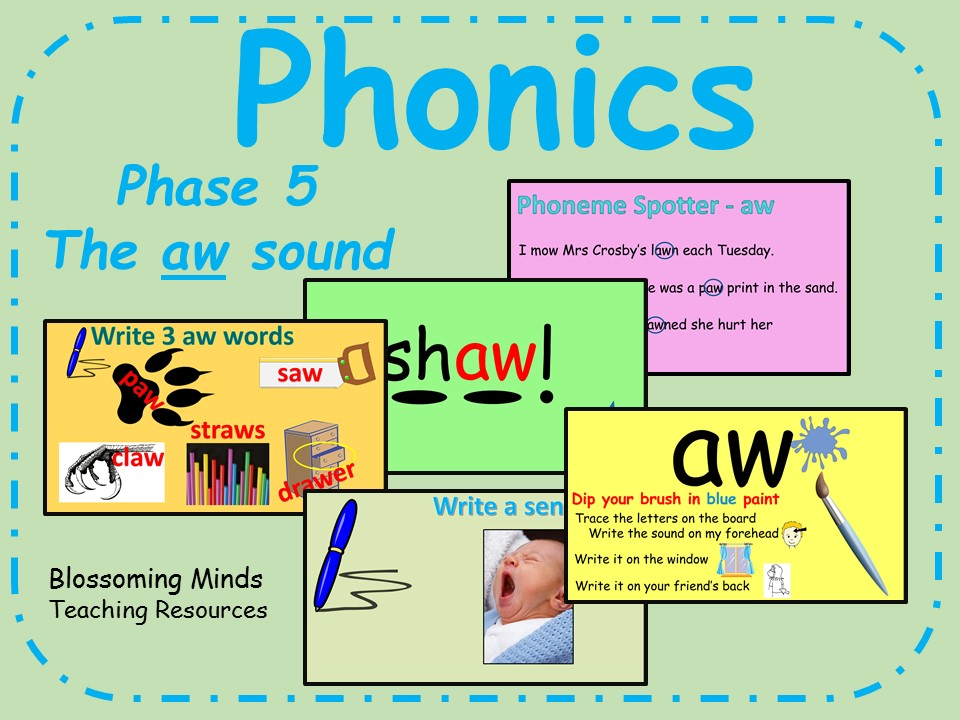 Phonics phase 5 - The 'aw' sound