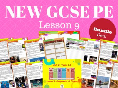 NEW Edexcel GCSE PE Unit 2 - Topic 1 - Lesson 9 BUNDLE PACK - Components of Fitness