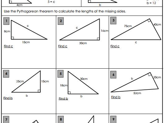 Pythagorean Theorem.