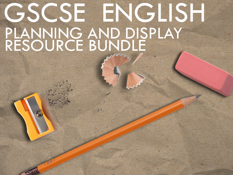 GCSE English - Planning and Display Bundle
