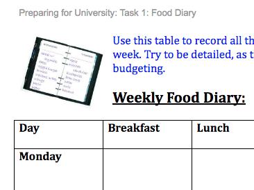 Preparing for University - Six Tasks