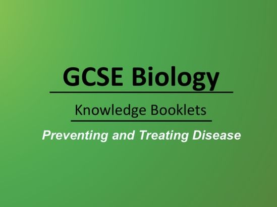 Preventing and Treating Disease Knowledge Booklet