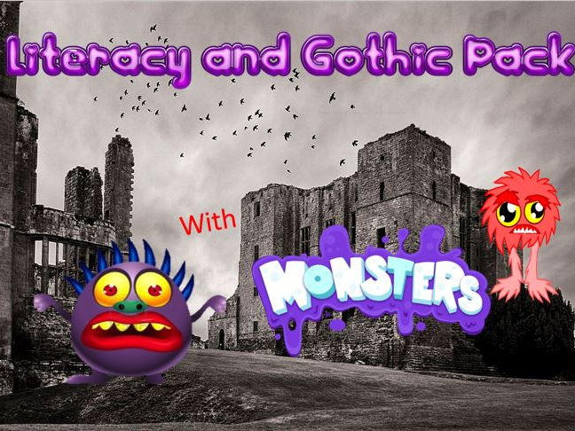 Literacy and Gothic Pack with Monsters