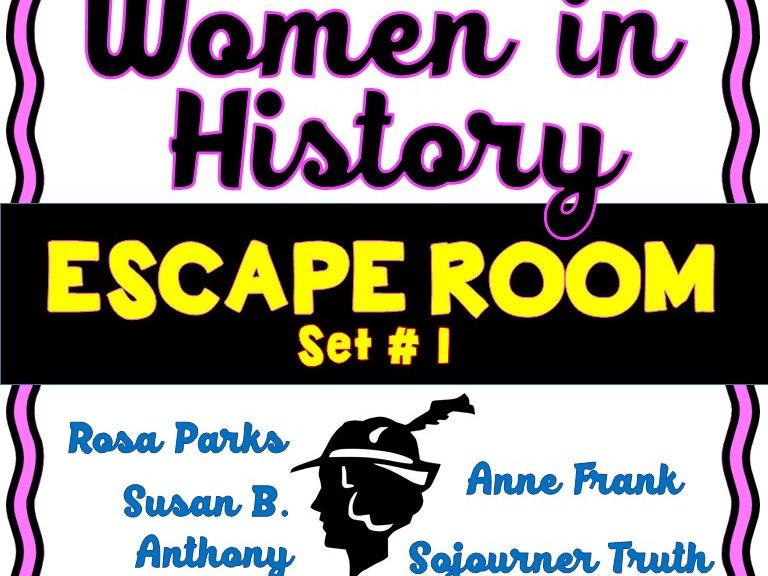 Women in History Escape Room Set #1 - No Prep!