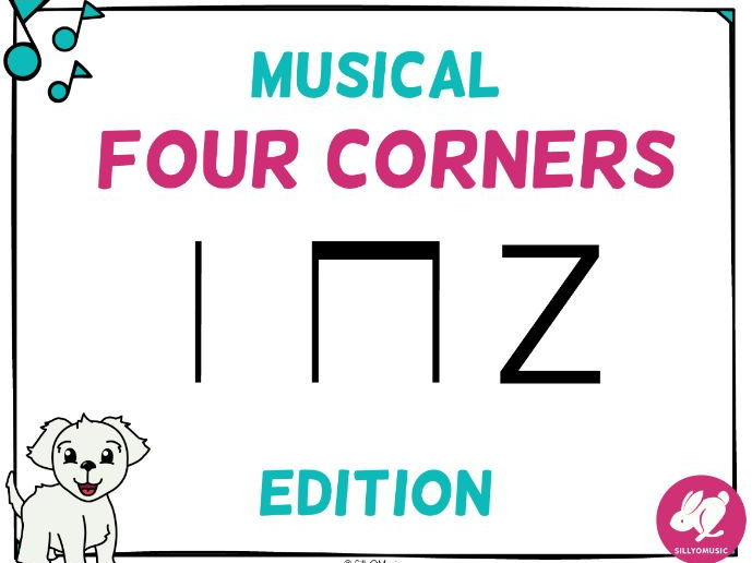 Musical Four Corners, Ta, Ti-Ti, Z Rhythms (Stick Notation)