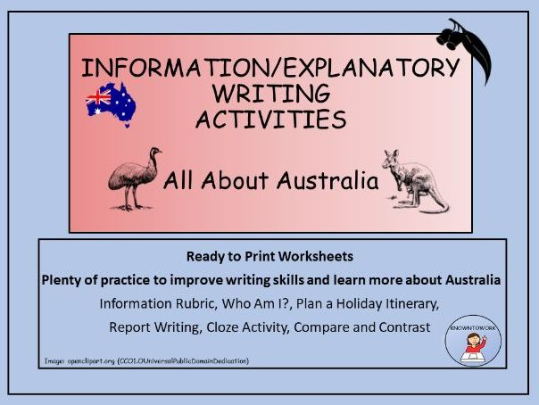 Informative Writing -AustralianTheme-PerfectforHomeLearning