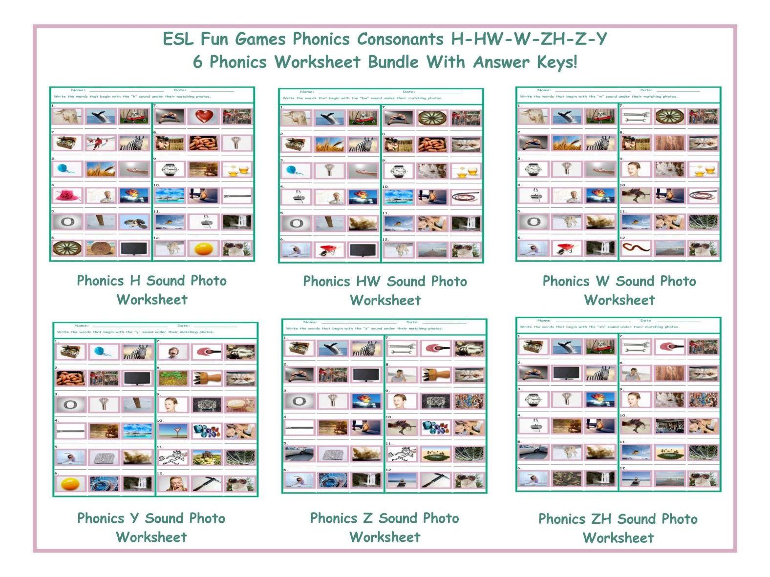 Workbooks kn sound worksheets : Phonics M Sound Photo Worksheet by eslfungames - Teaching ...