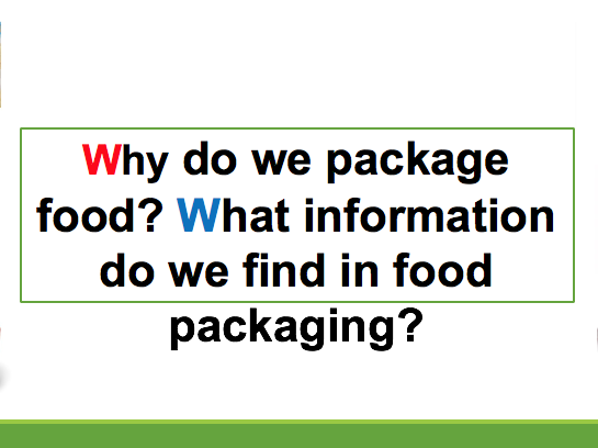 Food packaging and labelling