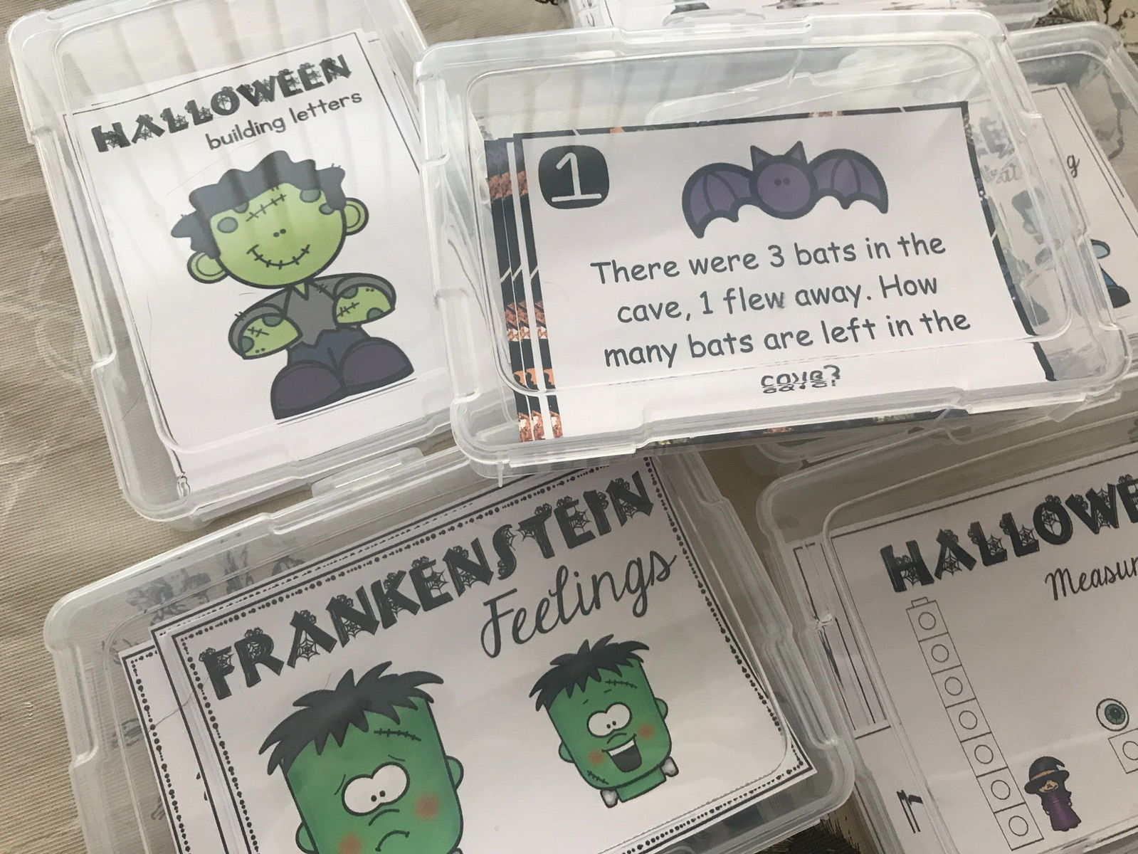 Halloween Task Card Activity Bundle