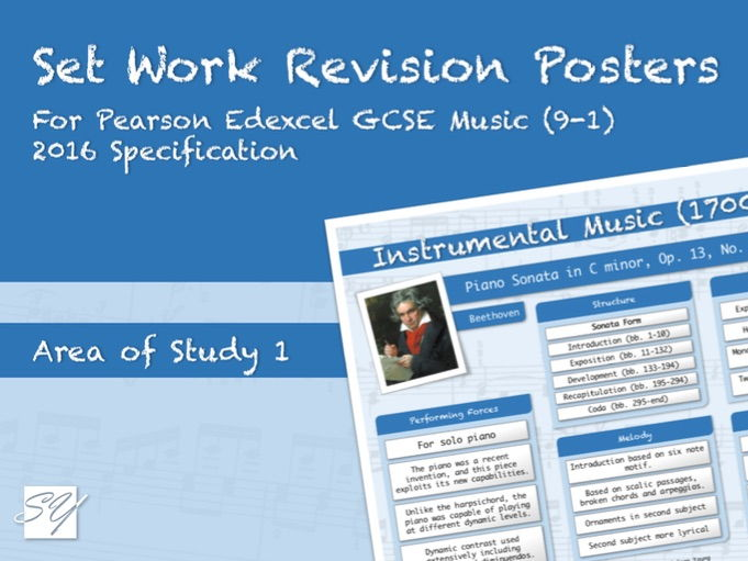 Set Work Revision Posters for Pearson Edexcel GCSE Music (2016 Specification) - Area of Study 1