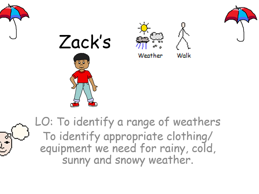 Weather Story, Autism, Special Education, PMLD, Widgit stories. sensory