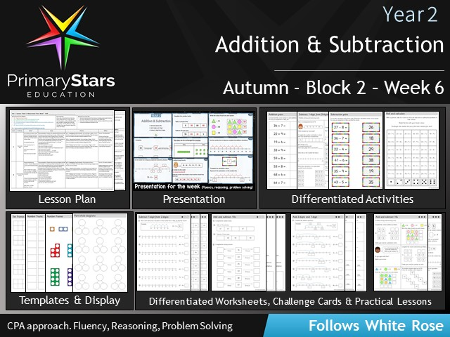 YEAR 2 - Addition Subtraction - White Rose - WEEK 6 - Block 2 - Autumn - Differentiated Resources