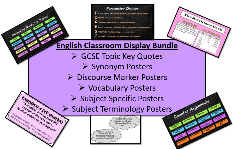 English Classroom Display Bundle
