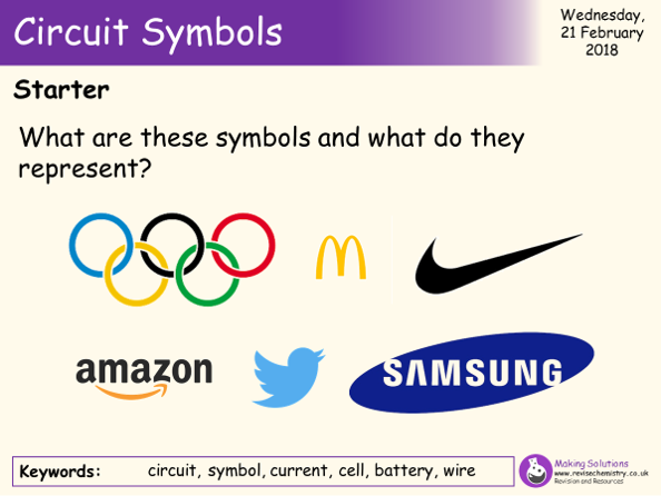 AQA Chapter 2 - Lesson 1 - Circuit-Symbols