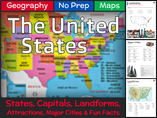 Secondary Urban And Rural Areas Resources - Landforms of the united states