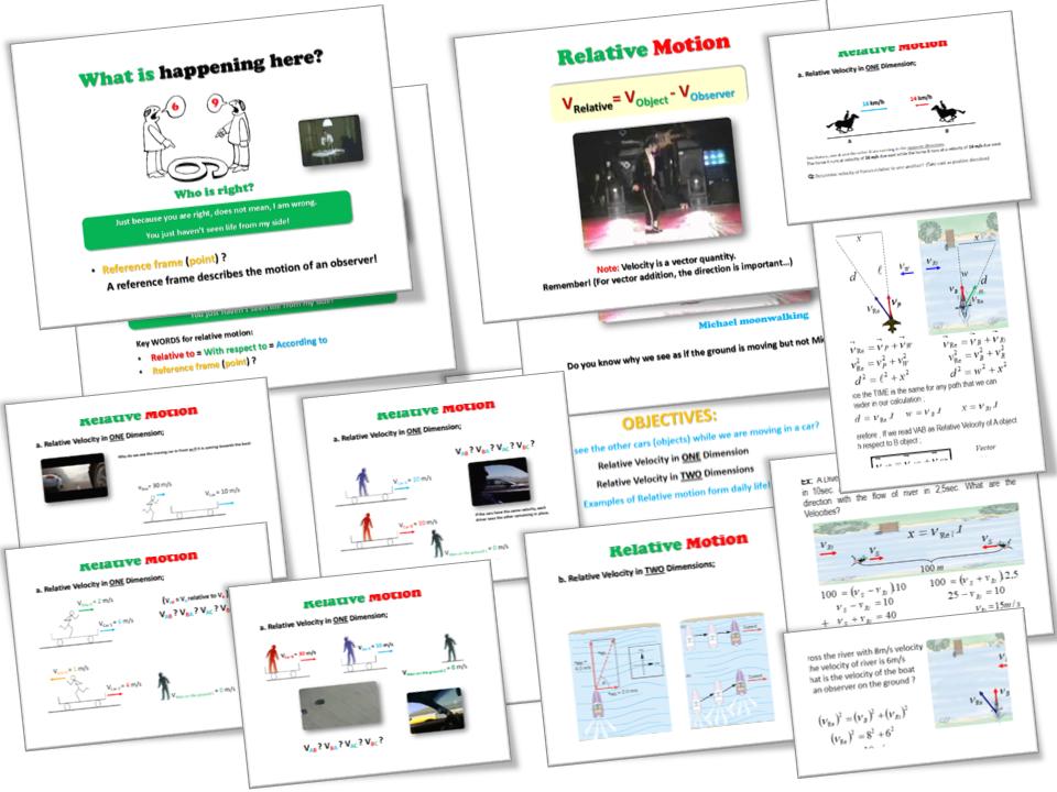 Motion - Relative MOTION – (Relative Velocity) – Lesson Presentation (PPT)