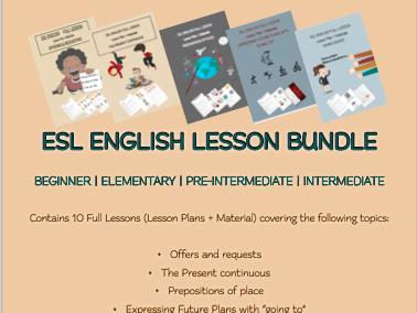 ESL English Full Lessons Bundle