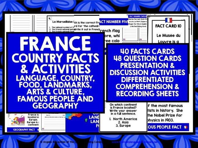 PRIMARY FRENCH FACTS ACTIVITIES 1&2