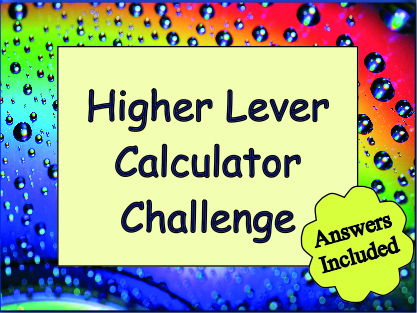 GCSE Calculator Practice (challenge) - With Answers