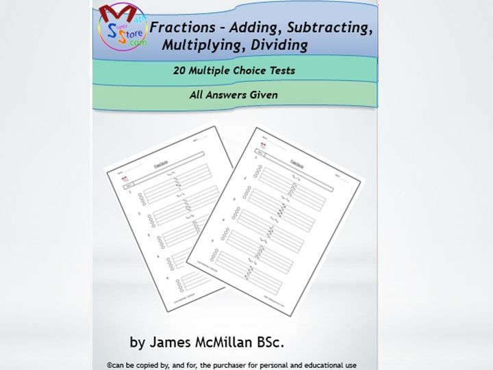 Fractions - Adding, Subtracting, Multiplying, Dividing