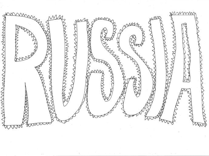 Russia: Countries and Languages Colouring Page