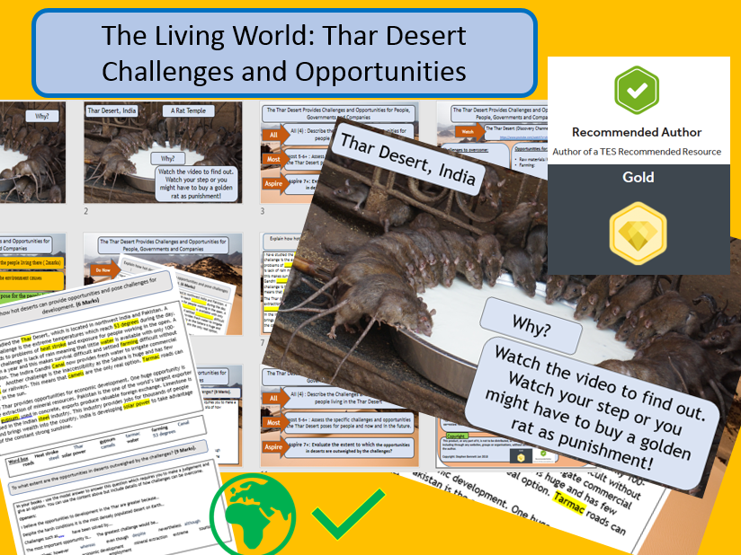 Thar Desert -  Opportunities and Challenges - GCSE AQA 9-1 Living World. Full lesson