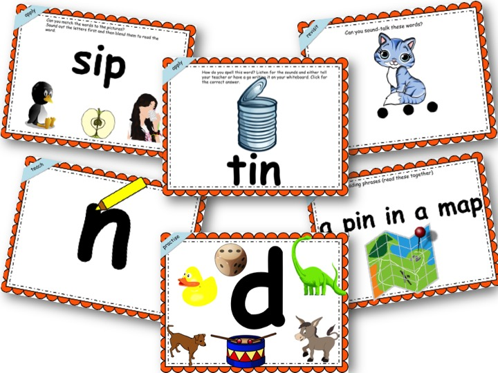Phonics Powerpoint Phase 2, Week 2 (i,n,m,d)