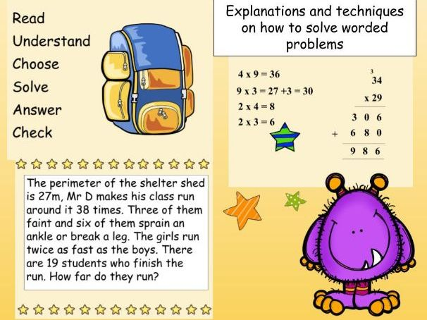 Word Problems: Presentation on Multiplication, Division, Addition and Subtraction