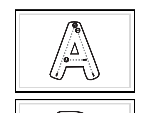 Alphabet Letters Formation Cards