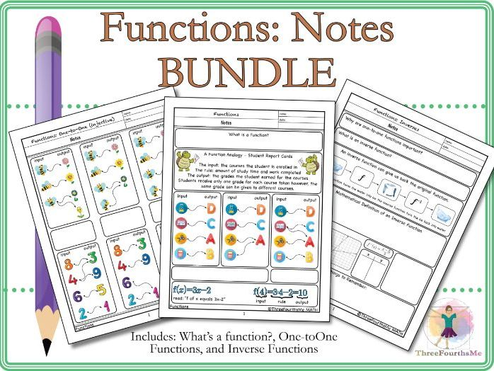 Bundle: What's a function?, One-to-One Functions, and Inverse Functions
