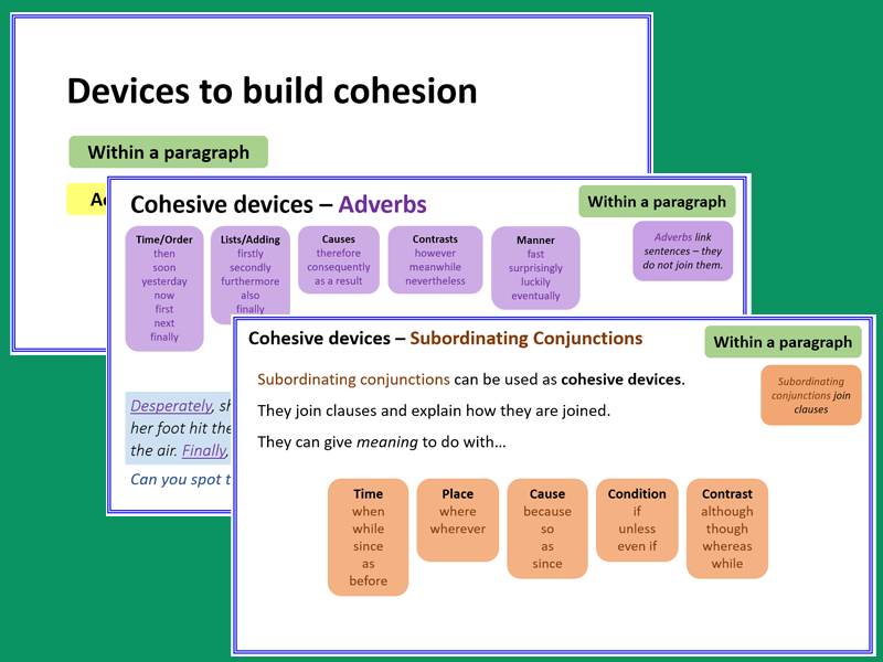 Devices to build cohesion - Presentation & Exercises