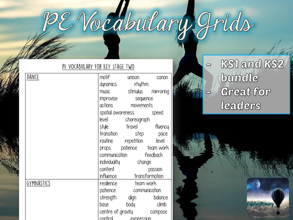 PE Vocabulary Grids