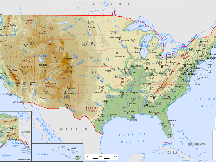 The Geo-Political, Natural and Social Landscape of the United States of America
