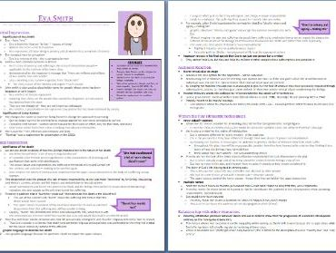 Eva Smith Grade 9 Character Study/Revision Guide (8 pages - An Inspector Calls)