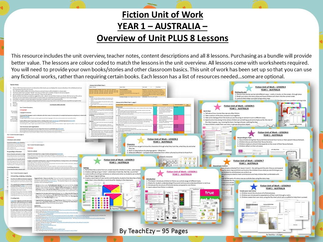 Fiction Unit of Work Australian Curriculum