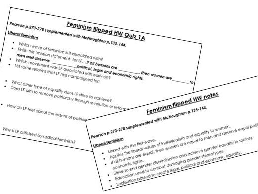 Edexcel A-Level Politics: Feminism Core Notes and Quizzes
