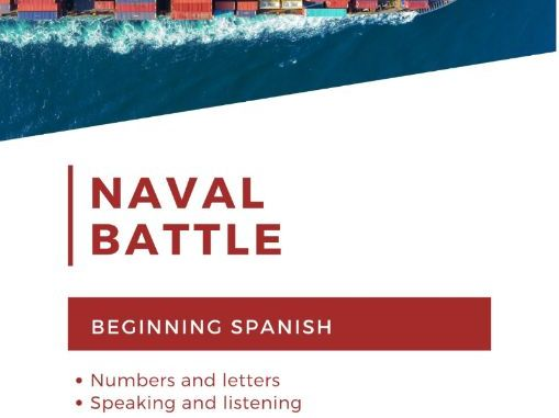 Battleship: Spanish alphabet, numbers, and speaking for beginning learners