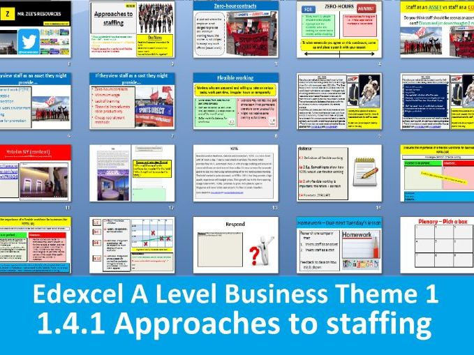 1.4.1 Approaches to staffing - Theme 1 Edexcel A Level Business